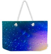 Colorfull Water Drop Background Abstract Weekender Tote Bag