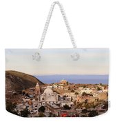Colorfusk Dusk Sky Over A Typical Mexican Town Weekender Tote Bag