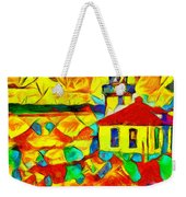 Colors Of Lime Kiln Lighthouse Weekender Tote Bag