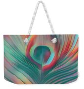 Colors Of The Rainbow Peacock Feather Weekender Tote Bag