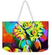 Colors, Pears And Flowers Weekender Tote Bag