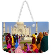 Colorful Saris At Taj Mahal Weekender Tote Bag