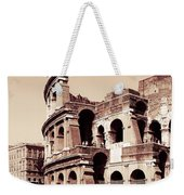 Colosseum Toned Sepia Weekender Tote Bag