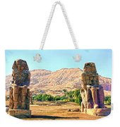 Colossi Of Memnon Weekender Tote Bag