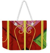 colourful abstract urban photography - The Red Cross Weekender Tote Bag