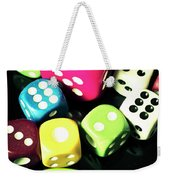 Colourful Casino Dice  Weekender Tote Bag
