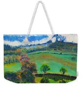 Colourful English Devon Landscape - Early Evening In The Valley Weekender Tote Bag