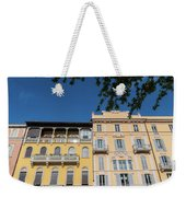 Colourful Facade Of Traditional Buildings In Como, Italy Weekender Tote Bag