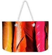 Colourful Feather Art Weekender Tote Bag