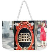 Colourful Lamp Post With The City Of Westminster Coat Of Arms London Weekender Tote Bag