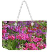 Colourful Primula Candelabra At Wisley Gardens Surrey Weekender Tote Bag