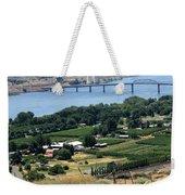 Columbia River And Biggs Bridge Weekender Tote Bag