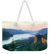 Columbia River With Vista House Weekender Tote Bag