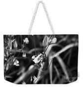 Columbine Flower 2 Black And White Weekender Tote Bag