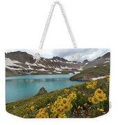 Columbine Lake And Alpine Sunflower Landscape Weekender Tote Bag