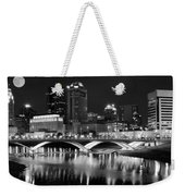 Columbus Black Night Weekender Tote Bag