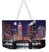 Columbus By Moonlight Weekender Tote Bag