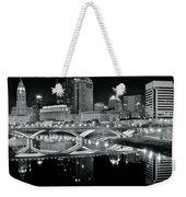 Columbus Ohio Black And White Weekender Tote Bag