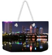 Columbus Ohio Reflecting In The Scioto River Weekender Tote Bag