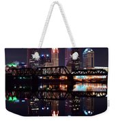Columbus Ohio Reflecting On The River Weekender Tote Bag