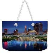 Columbus Ohio Skyline At Night Weekender Tote Bag