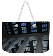 Column Stain Blue Weekender Tote Bag