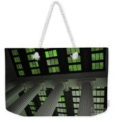 Column Stain Green Weekender Tote Bag