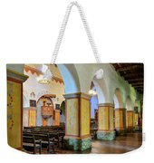 Columns At San Juan Bautista Mission Weekender Tote Bag