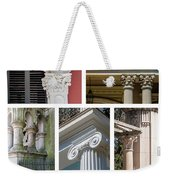 Columns Of New Orleans Collage Weekender Tote Bag