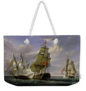 Combat Between The French Frigate La Canonniere And The English Vessel The Tremendous Weekender Tote Bag