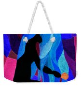 Combing The Waves Dark Weekender Tote Bag