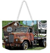 Come Hungry But Bring Your Own Chair Weekender Tote Bag by DigiArt Diaries by Vicky B Fuller