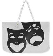 Comedy N Tragedy B W Weekender Tote Bag