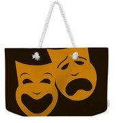 Comedy N Tragedy Black Orange Weekender Tote Bag