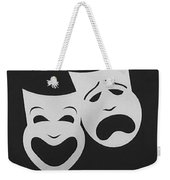 Comedy N Tragedy Black White Weekender Tote Bag