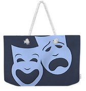 Comedy N Tragedy Cyan Weekender Tote Bag