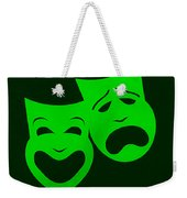 Comedy N Tragedy Green Weekender Tote Bag