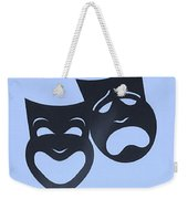 Comedy N Tragedy Neg Cyan Weekender Tote Bag