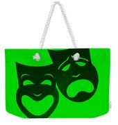 Comedy N Tragedy Neg Green Weekender Tote Bag