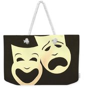 Comedy N Tragedy Neg Sepia 1 Weekender Tote Bag