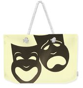 Comedy N Tragedy Neg Sepia Weekender Tote Bag