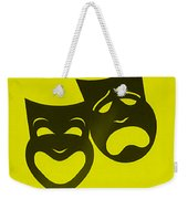 Comedy N Tragedy Neg Yellow Weekender Tote Bag