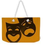 Comedy N Tragedy Orange Weekender Tote Bag