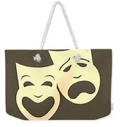Comedy N Tragedy Sepia Weekender Tote Bag