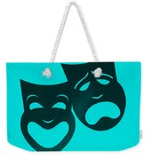 Comedy N Tragedy Turquoise Weekender Tote Bag