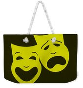 Comedy N Tragedy Yellow Weekender Tote Bag