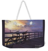 Coming And Going By Marilyn Nolan- Johnson Weekender Tote Bag