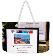 Commemorations Anzac Cove Weekender Tote Bag