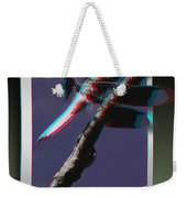 Common Whitetail - Use Red-cyan 3d Glasses Weekender Tote Bag