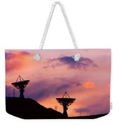 Communication Sunset Weekender Tote Bag